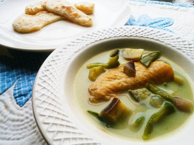犬猫レシピ「グリーン野菜カレー」