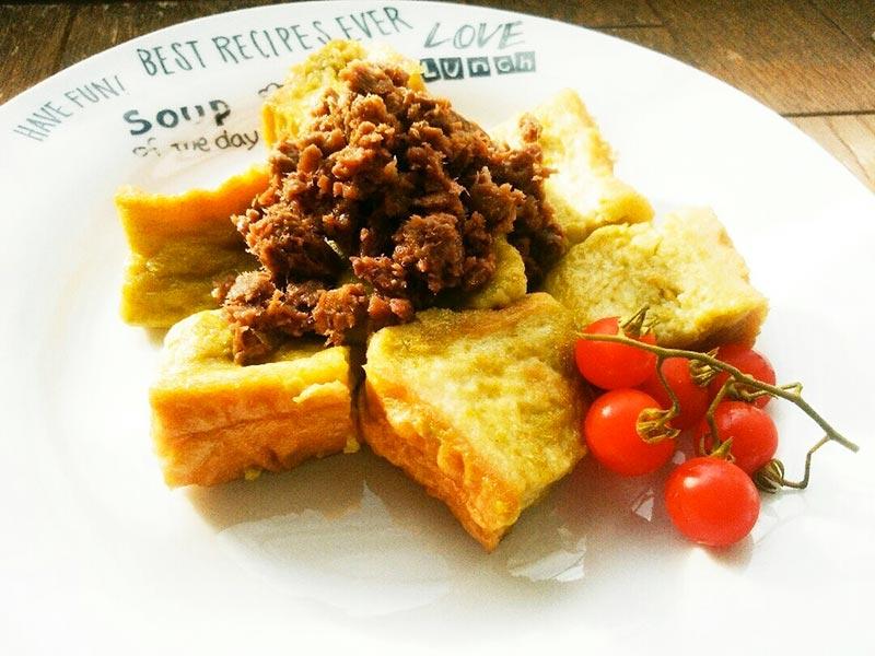 犬猫レシピ「フレンチ野菜トースト」