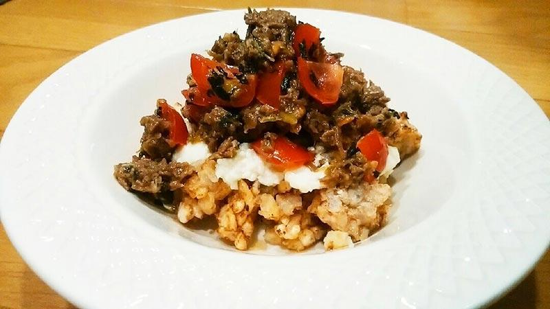 犬猫レシピ「豆腐のっけご飯」