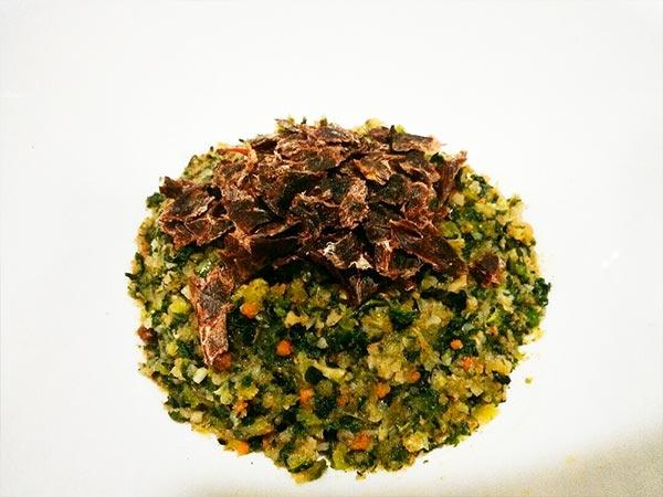 健康一番 × 鹿ハツ × エゴマ(アレルギー対応レシピ)の作り方3