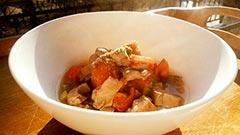 犬猫のケイズマイスターを使ったレシピ「レバーとトマトの煮込み」
