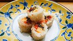 犬猫のラム肉を使ったレシピ「海苔なし巻き寿司」