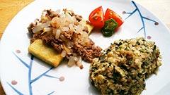 犬猫の鹿肉を使ったレシピ「豆腐ステーキ 〜健康一番添え〜」