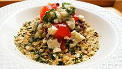 犬猫の鹿肉を使ったレシピ「健康一番 白和えのせ」