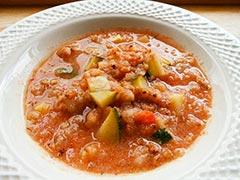 ヤギミルクを使ったレシピ「トマトミルクリゾット」