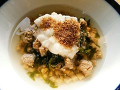 犬猫のわかめを使ったレシピ「とろろのっけスープごはん」