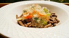 犬猫のコラーゲンキューブスープを使ったレシピ「鶏スープのジュレのせ」
