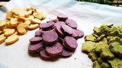 犬猫の粉末野菜を使ったレシピ「彩りおからクッキー」