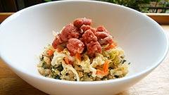 犬猫のダイエットにおすすめレシピ「健康一番の鹿ミンチのせ」