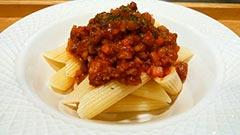 犬猫の鹿肉を使ったレシピ「お野菜たっぷりミートソースパスタ」
