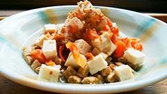 犬猫のドライフード、ハッピーラブを使ったレシピ「フードのけんちん汁かけ」