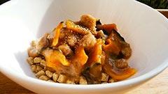 ケイズマイスターを使ったレシピ「かぼちゃと豚ミンチの餡かけ」