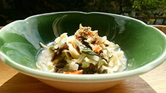 犬猫の鹿肉を使ったレシピ「豆乳鍋風汁かけごはん」