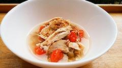 犬猫のケイズマイスターを使ったレシピ「手羽先とトマトのスープかけごはん」