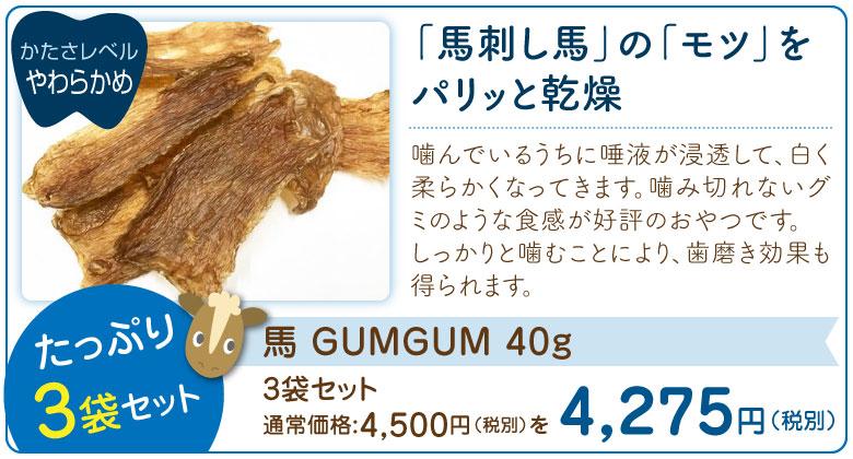 馬 GUMGUM 40g ×3袋セット