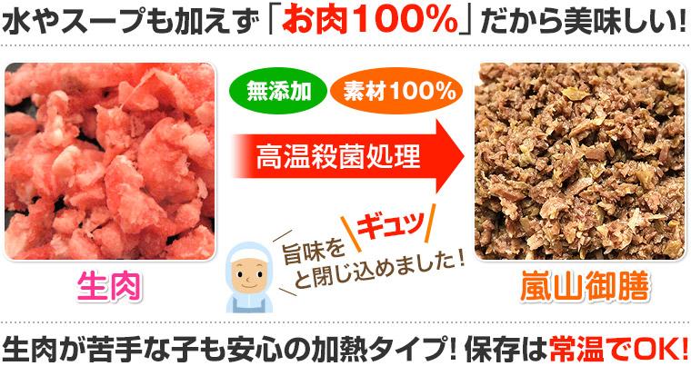 犬猫用のレトルト肉「ラム御膳」