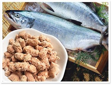 犬猫の心臓病におすすめの魚「鮭骨ごとパラパラミンチ」
