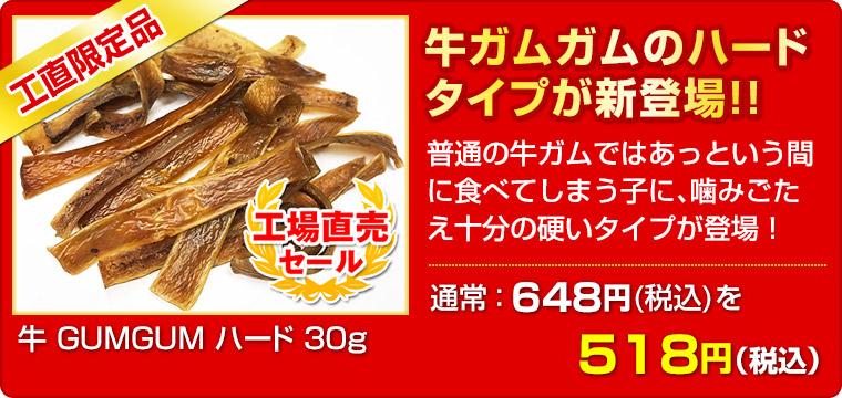 ≪工場直売セール≫ 牛 GUMGUM ハード 30g